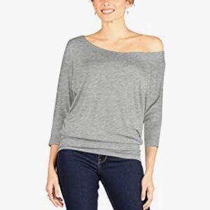 Simlu gray one shoulder shirt. NWT